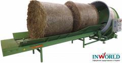 Соломорезка, измельчитель рулонов соломы-сена