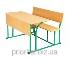 School desk student's 2-seater strengthened