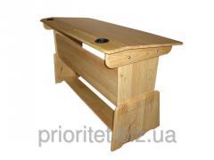 Table school desk children's 2-seater