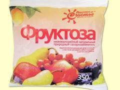 Natural fruit sugar Fructose 250 gr cards
