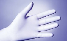 Medical gloves Latex surgical antimicrobial