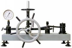 MP-6. Deadweight manometer of MP-6 of accuracy