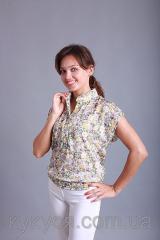 Блуза для кормления грудью из батиста с топом
