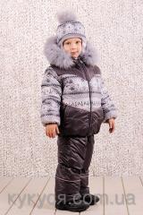 Зимний детский костюм-комбинезон