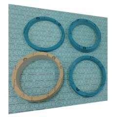 High-temperature flange gaskets