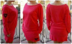 Стильная туника-платье LOVE PINK 46 Розовый