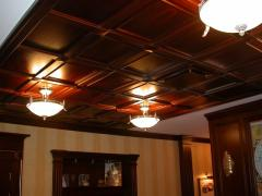 Wooden false ceilings to order. An interior from a