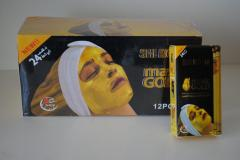 Cosmetic face pack on the basis of pure gold the