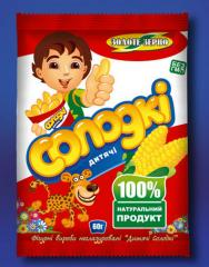 Packaging of BOPP for snekovy products: corn, corn