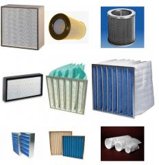 Filters of a preliminary filtration