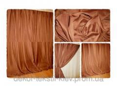 Готовая тюль-вуаль Кофейная (коричневый) 2506