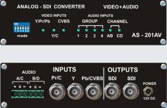 The converter of analog vidio-audio of signals in
