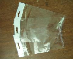 Plastic packaging bags, packages euroslot,