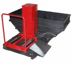 Bathtub for pressure integrity check of cargo and