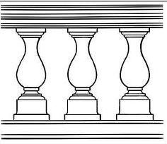 Figured columns (rail-posts)