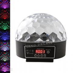 Музыкальный проектор LED Crystal magic ball light MP3 SD card - цветомузыка