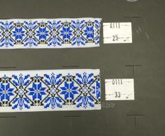 Тесьма с украинской символикой 25 мм, арт.0111