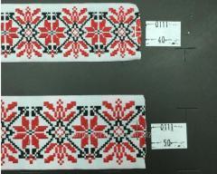 Тесьма с украинской символикой 33 мм,  арт.0111-33