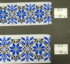 Тесьма с украинской символика  40 мм, арт 0111-40