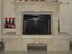 Frame for a fireplace from sandstone