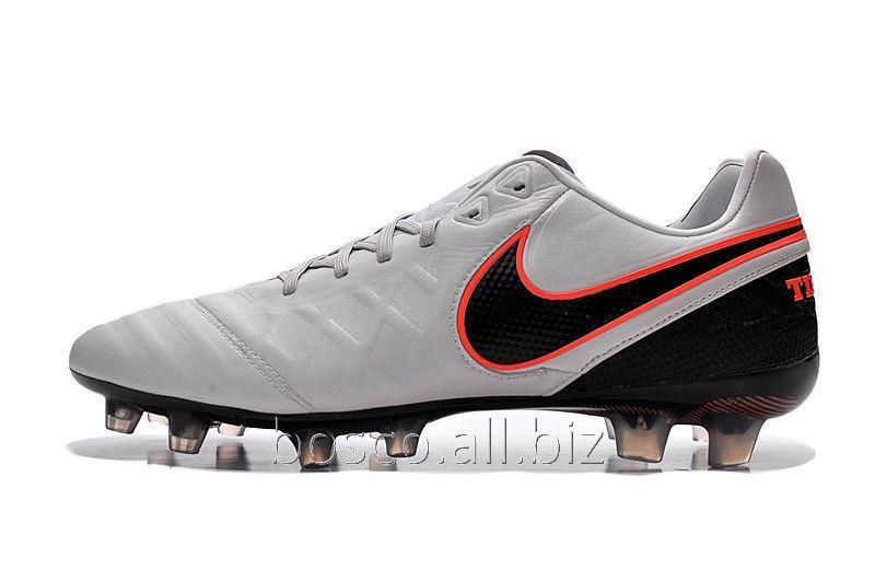 on sale ea2e2 651d8 Football boots of Nike Tiempo Legend VI FG 2016 Pure  Platinum/Black/Metallic Silver/Hyper Orange