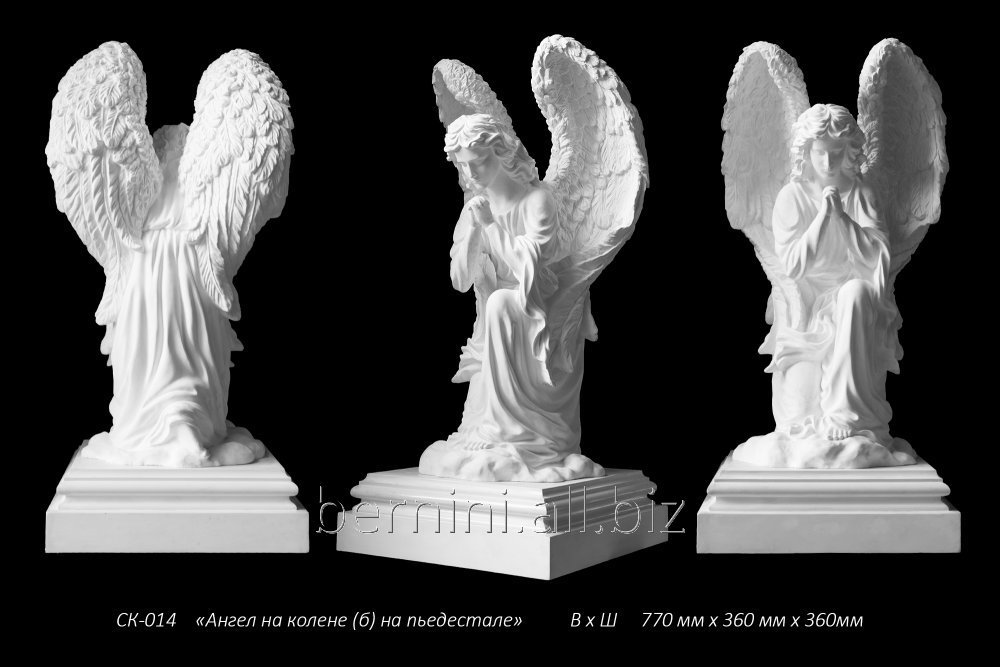 skulptura-angel-na-kolene-bol