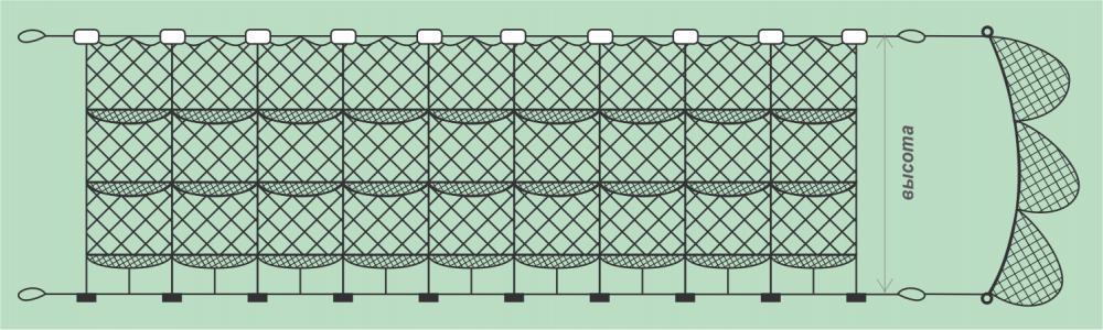 посадка рыбацких сетей
