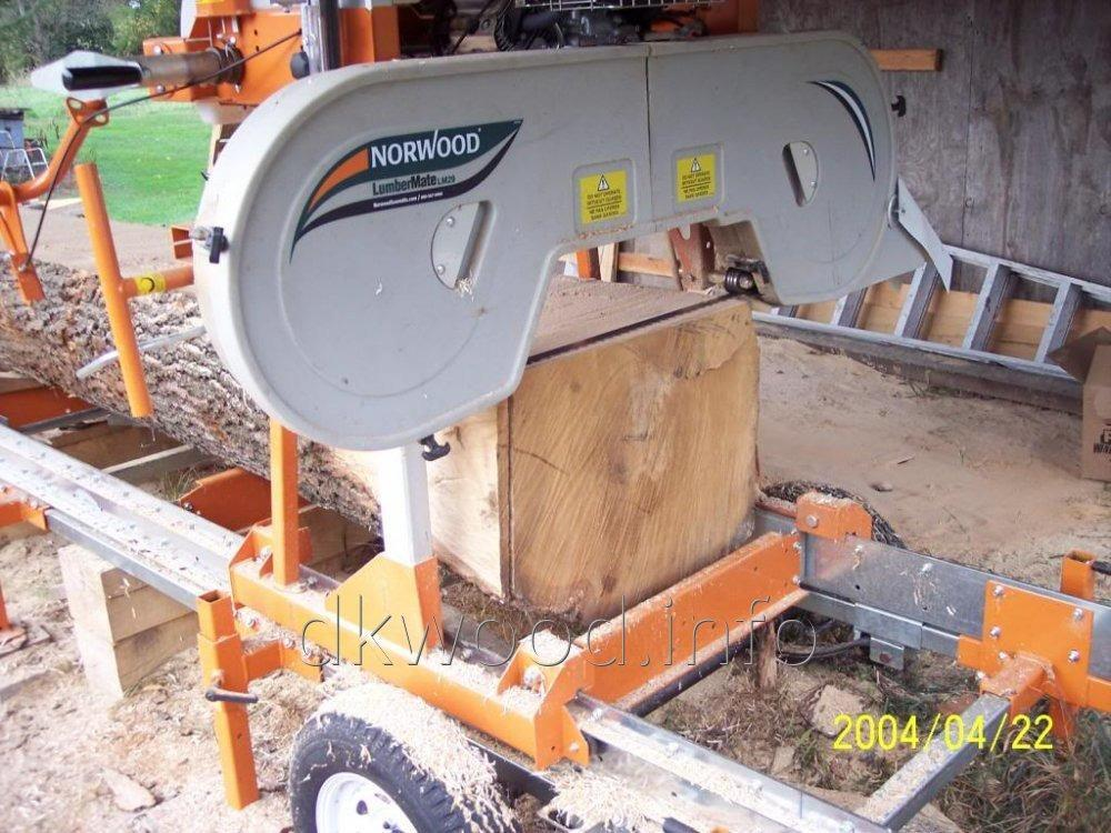 Lumbermate Lm29 Band Sawmill In Basic Configuration For On Ground Sawmilling Operation