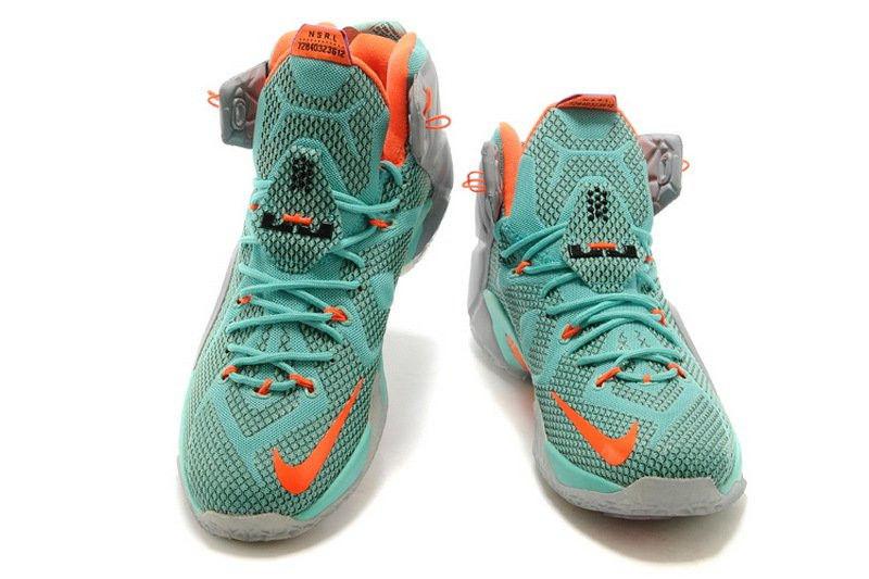 2a5a90a6f426 Кроссовки баскетбольные Nike Lebron 12 NSRL Оригинальные зеленые кроссовки  для баскетбола