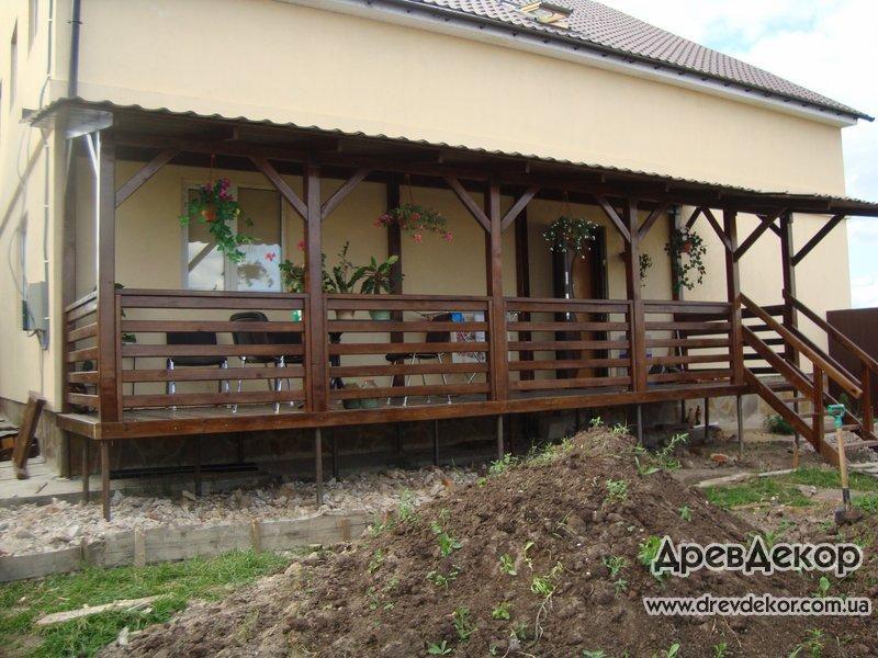Деревянные террасы к дому фото