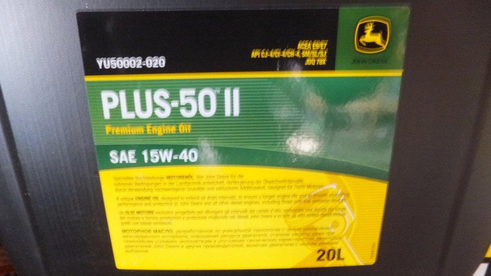 John Deere PLUS-50II YU50002-020-15W-40 engine oil