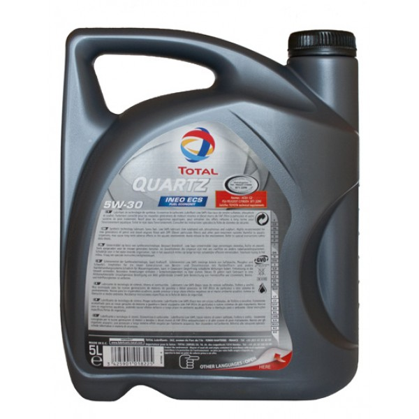 Engine Oil Total Quartz Ineo ECS 5w-30 5 of l