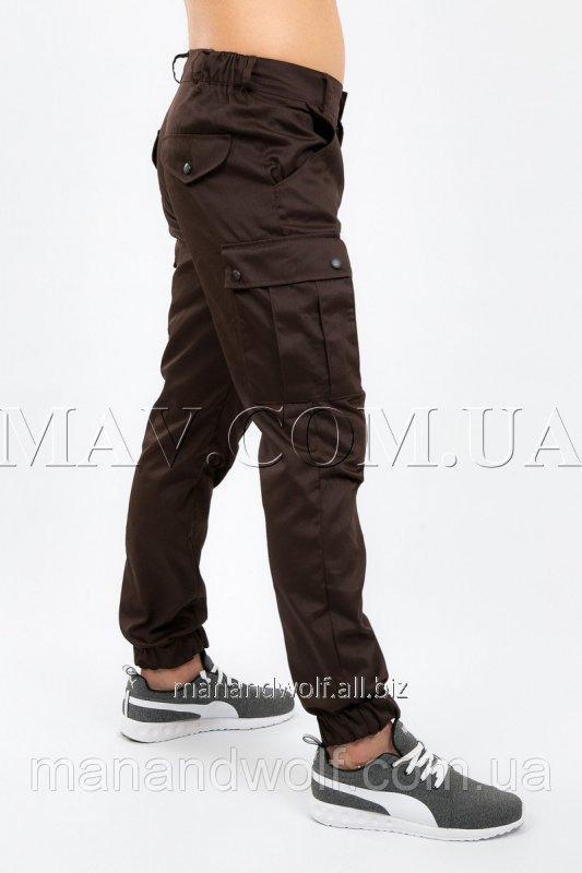 405f2b8e5505 Брюки мужские милитари коричневые man and wolf карго Cargo pants cotton