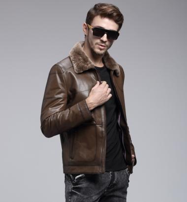 bba40994b6fa9 Мужская зимняя кожаная куртка, модель 1051 купить в Днепр