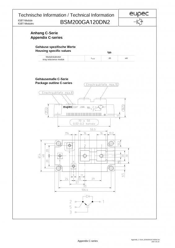 Power Igbt Module Bsm200ga120dn2 Buy In Khmelnitskij
