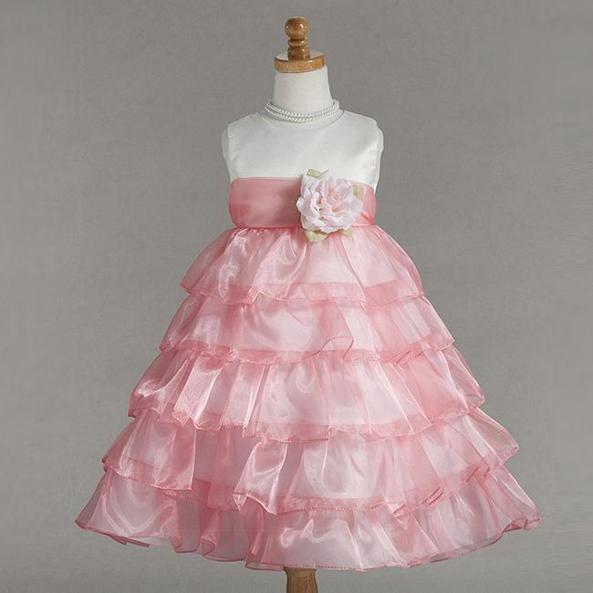 Многоярусное платье для девочки своими руками