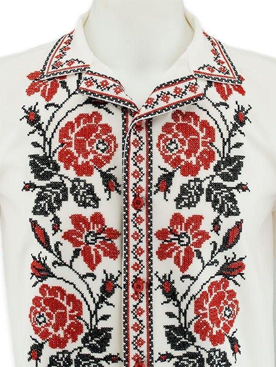 Літня незвичайна вишиванка з яскравим візерунком «Рози» купити в ... 27dd821fef35f