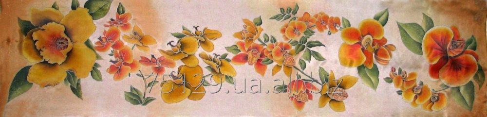 shelkovyj_sharf_ruchnoj_rospisi_orhidei_pod_zakaz