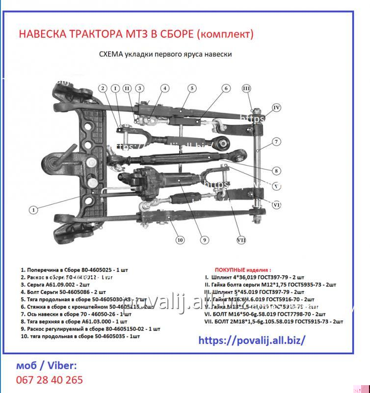 naveska-traktora-mtz-v-sbore-komplekt