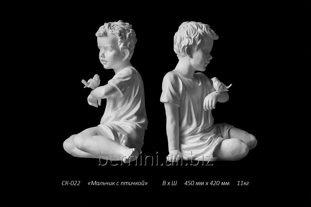 skulptura_malchik_s_ptichkoj