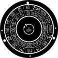 Часы, циферблаты и шкалы из алюминия