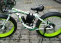 Электровелосипед LKS Fatbike Бело-зелёный Electro Rear Drive