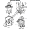 Гидравлический ротатор Baltrotors GR 603