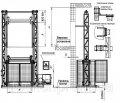 Подъемник 2-х мачтовый Docker электрический 2200х2000 мм, ход 10м, г/п 1000кг