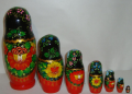 The Ukrainian painted nested doll from 7 pieces big 718