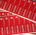 Индикаторная пломба-наклейка 20х100 мм, под печать штрих-кода