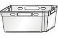 Ящик конусный 600х400х270 сплошной