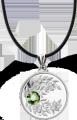 Серебряная монета с кристаллом ~ Подарок на любое торжество