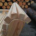 Лавка (скамья) деревянная садово-парковая со спинкой № 1