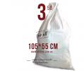 Polypropyleen tas wit 55 x 105 cm, 50 kg